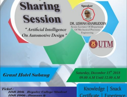 "Sharing Session ""Artificial Intelligence On Automotive Design"" Faculty of Engineering Subang University"